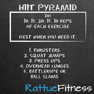 Full Body HIIT Pyramid Owch | Rattue Fitness