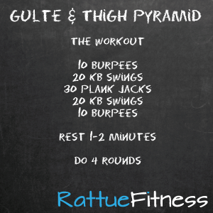 Glute and Thigh Pyramid HIIT Workout | Rattue Fitness